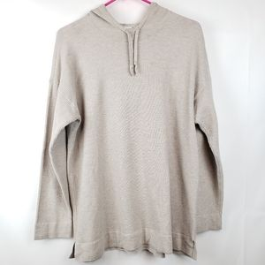 Pure j jill Women's Thermal top Tan Hooded size M